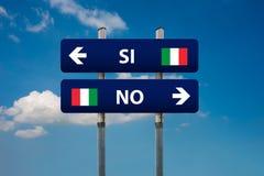 Référendum italien Photos libres de droits