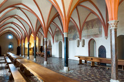 Réfectoire de château de Malbork Images libres de droits