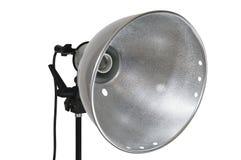 Réflecteur de lampe sur le blanc Photographie stock libre de droits