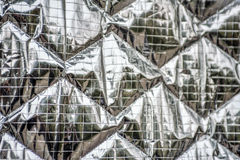 Réflecteur piqué d'écran de soleil d'aluminium Image stock