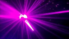 Réflexe d'abrégé sur lumière de rose de laser clips vidéos