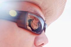 Réflexe de courbure de chaussure de cheval en verre de Sun Images libres de droits