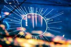 Réflexion électronique de l'espace de starburst de galaxie Photos stock