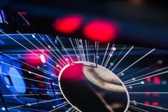 Réflexion électronique de Starburst avec les fusées rouges Photo libre de droits