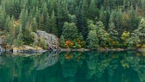 Réflexion au bord du lac Photographie stock