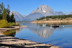 Réflexion au lac jackson Photo libre de droits
