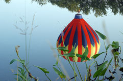 Réflexion chaude de ballon à air Photographie stock libre de droits