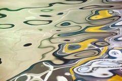 Réflexion colorée de l'eau images libres de droits