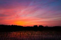Réflexion crépusculaire de ciel Photo libre de droits