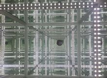 Réflexion d'infini de lumière de LED Photos libres de droits