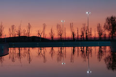 Réflexion dans l'eau Photographie stock