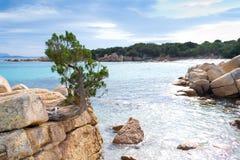 Réflexion dans la côte Smeralda Image stock
