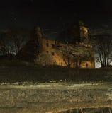 Réflexion dans la forteresse de l'eau Ville de Vyborg Images libres de droits