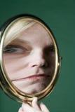 Réflexion dans un miroir photo stock