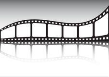 Réflexion de bande de cinéma Photo stock