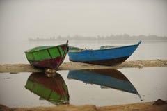 Réflexion de bateau Photo libre de droits