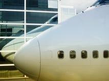 Réflexion de Boeing 747 Photos stock