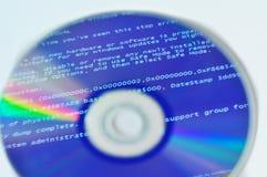 Réflexion de BSOD sur le disque écran de la mort photos libres de droits