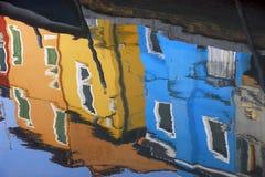 Réflexion de Burano photos libres de droits