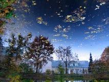 Réflexion de ciel dans l'étang Photographie stock libre de droits