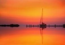 Réflexion de coucher du soleil Photos stock