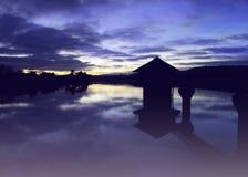 Réflexion de coucher du soleil Image libre de droits