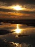 Réflexion de coucher du soleil Photo libre de droits