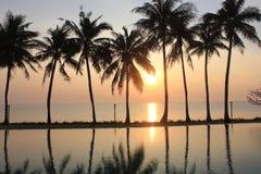 Réflexion de coucher du soleil Images libres de droits