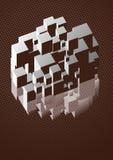 réflexion de cube en art Photos stock