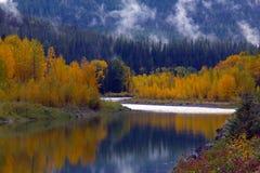 Réflexion de fleuve d'automne images libres de droits