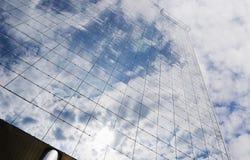 réflexion de Glas-construction Images libres de droits