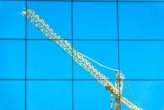 Réflexion de grue Photographie stock libre de droits