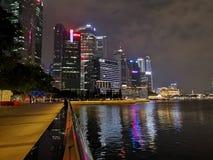 Réflexion de l'eau de baie de marina de Singapour photos stock