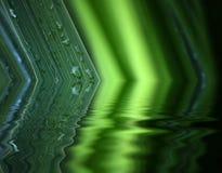 Réflexion de l'eau de lame Image stock