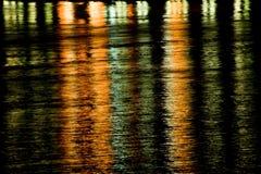 Réflexion de l'eau de nuit Image libre de droits