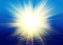 Réflexion de la lumière lumineuse Photo libre de droits