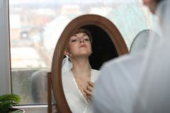 Réflexion de la mariée Photo stock