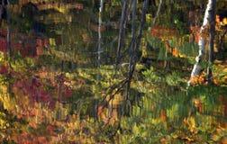 Réflexion de lac autumn Photographie stock