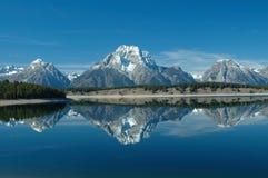 Réflexion de lac jackson Images libres de droits
