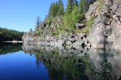 Réflexion de lac mountain Images libres de droits
