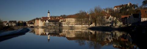 Réflexion de Landsberg am Lech photographie stock libre de droits