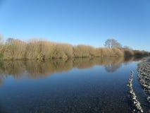 Réflexion de lit de la rivière image libre de droits