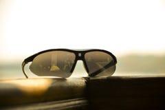 Réflexion de lunettes de soleil Photo stock