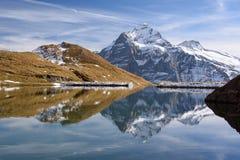 Réflexion de montagne couronnée de neige Photo libre de droits