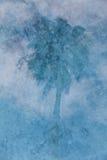 Réflexion de palmier dans la piscine Images libres de droits