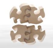 réflexion de puzzle en bois Photos stock
