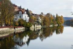 Réflexion de Tuebingen chez le Neckar Photographie stock libre de droits