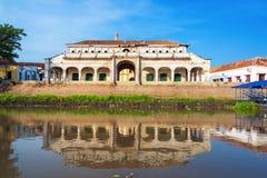 Réflexion du marché de Mompox photo libre de droits