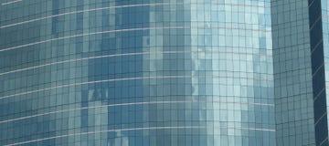 Réflexion en verre de nuage de bâtiment Photos libres de droits