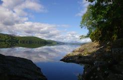 Réflexion ensoleillée de skys Photo libre de droits